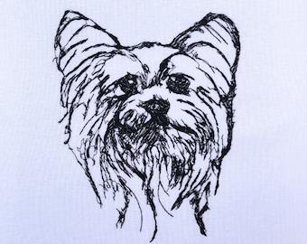 Yorkie Head with Bow 783-C806 Stencil Dog