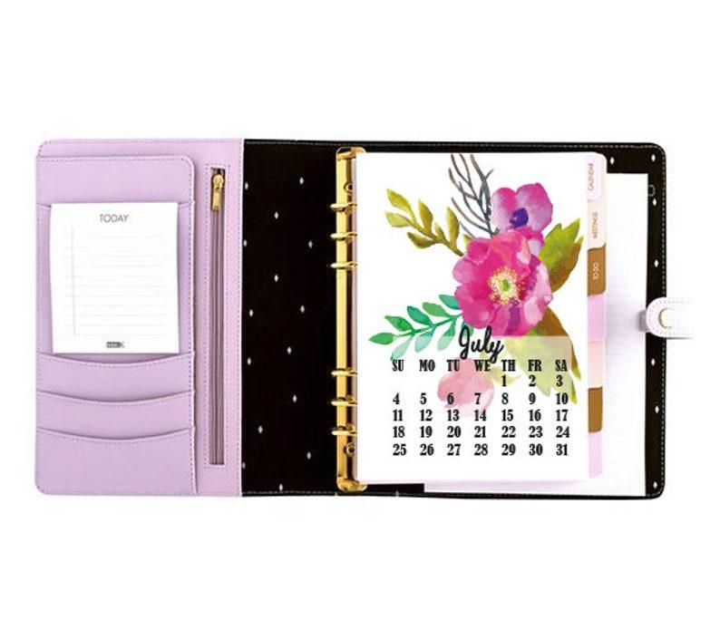 2021 Printable Calendar/4x6 Desk Calendar/Flowers ...