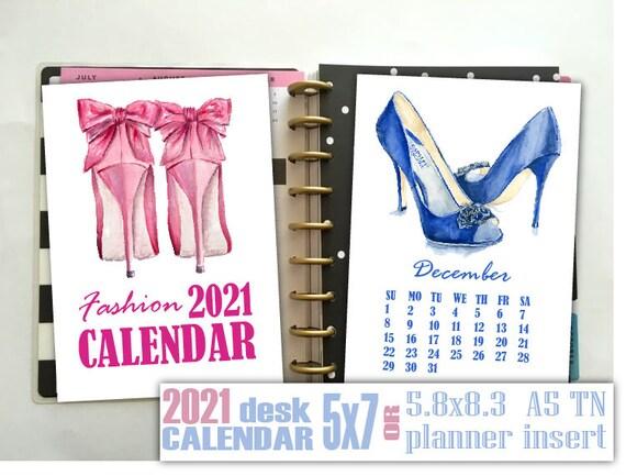 Fashion Women S Shoes Calendar 5x7 Printable Mini Calendar Etsy