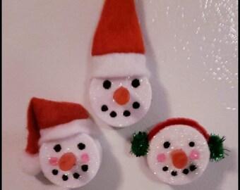 Sneeuwpop Waxinelicht Etsy