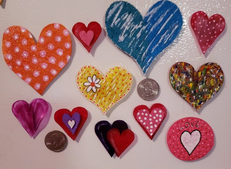 Pins Jewelry Refrigerator Magnet Gift Embellishments Magnets Valentines Heart Magnets Handmade Jewelry Keepsake Cheap Gift