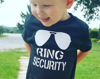 Ring Bearer Gift Ring Security Shirt Wedding Rehearsal Shirt  Wedding Shirt Ring Bearer Shirt Ring Bearer Proposal Personalized Ring Bearer