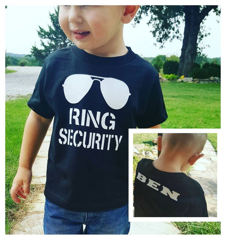 Ring Bearer Gift Ring Bearer Shirt  Ring Security Shirt  image 0