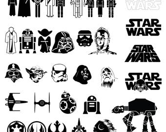 Star Wars Svg/Eps/Png/Jpg/Cliparts,Printable, Silhouette and Cricut File !!!