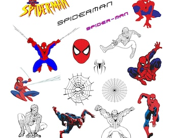 Spiderman #1 Svg/Eps/Png/Jpg/Cliparts,Printable, Silhouette and Cricut File !!!