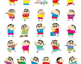 Shin chan #1 Svg/Eps/Png/Jpg/Cliparts,Printable, Silhouette and Cricut File !!!