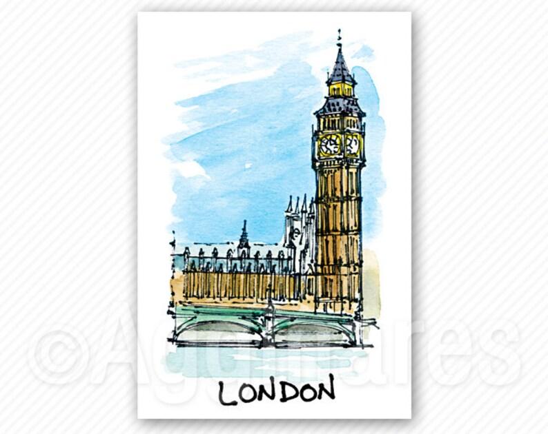 Travel fridge magnet / London UK / Britain / Europe / refrigerator magnet /  Handmade souvenir / Travel gift