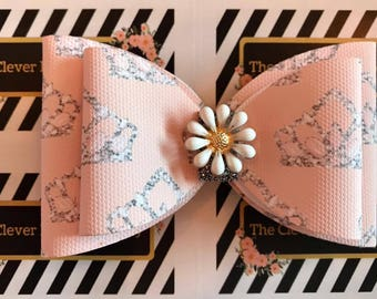 Big Tiara patterned Hair Bow