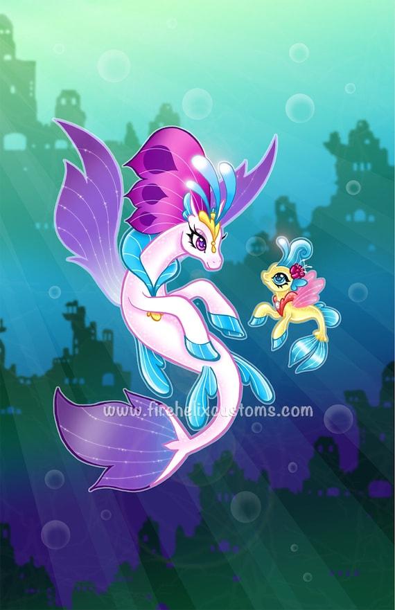 Queen Novo And Baby Princess Skystar