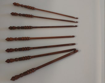 Handmade Wooden Crochet hooks
