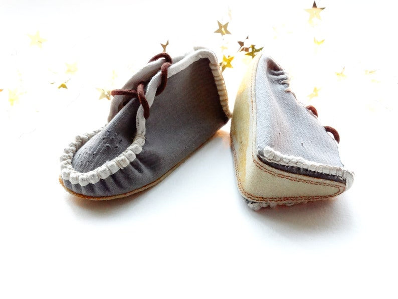 9ac3f4858a8a5 Vintage Soviet Baby Gray fabric Booties shoes, Old fashioned baby clothing