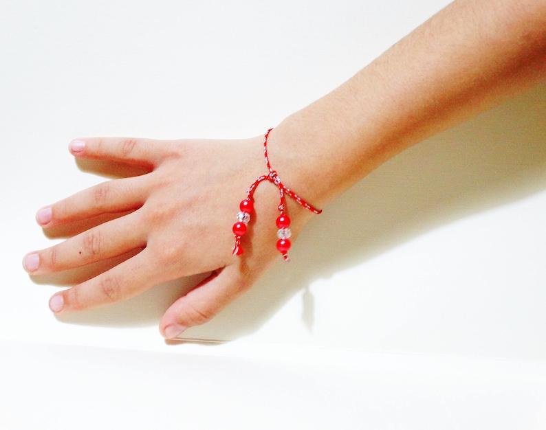 White and red Martenitsa Set bracelet 10 pieces Kids March Bracelet souvenir for kids Baba Marta Kids Friendship bracelet