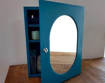 Medicine Cabinet with Mirror, Vintage Bathroom Cabinet, Apothecary Cabinet, Metal Cabinet, Storage Cabinet, Wall Cabinet