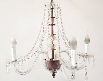 Cristalstrass Maria Theresa Chandelier, Murano and Crystal Chandelier