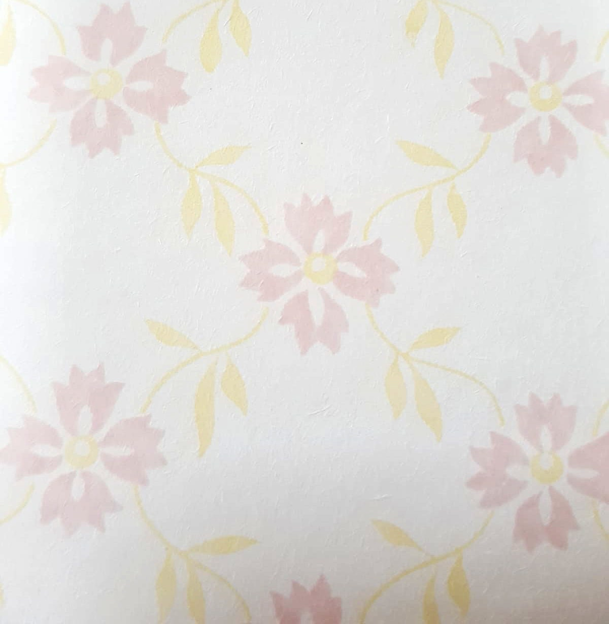 Roll Of Vintage Floral Wall Paper English Flower Pink And Etsy