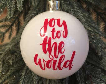 Fun Hand-lettered Personalised Christmas Baubles