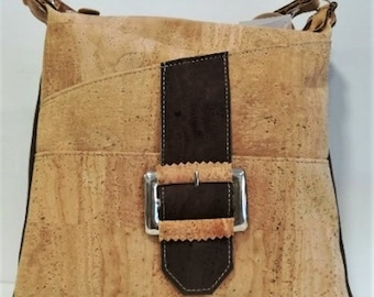 Cork Bag - Natural Cork Handbag - Cork Women Purse - Eco-friendly Shoulder Bag
