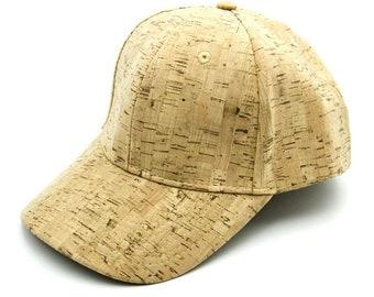 Baseball Cap Cork Fabric Natural Vegan Hat Eco Friendly Vegan Leather ea970ac84048