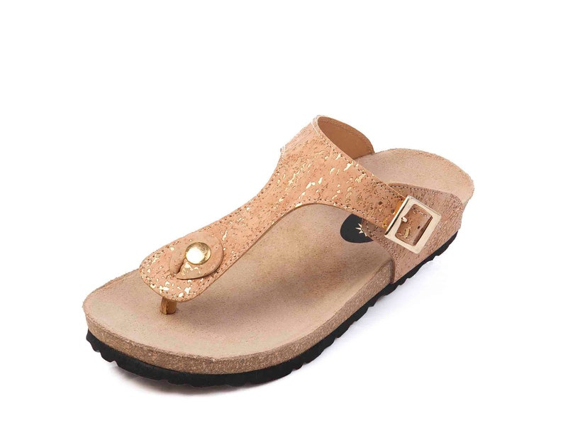 e335ca971a97 Shoes Cork Leather Flip Flop Sandals Handmade Women Sandals