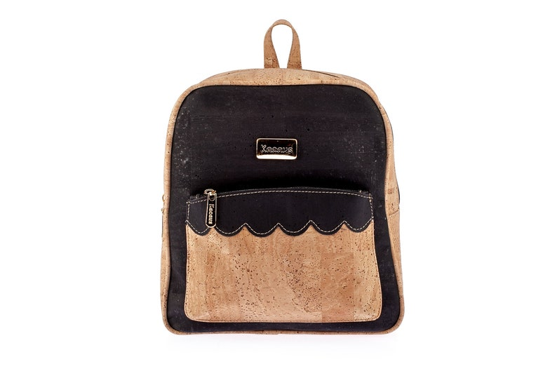 Cork Backpack Cork Handmade Handbag Cork Bag 100% Natural Cork image 0