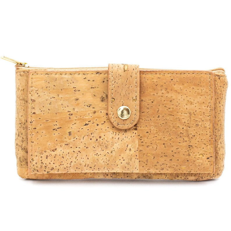 Cork Wallet Coin Pouch Purse Vegan Leather Cork Fabric All Natural