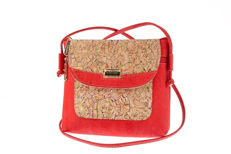 Cork Bag Cork Handbag Purse Handmade Vegan Natural Crossbody image 0