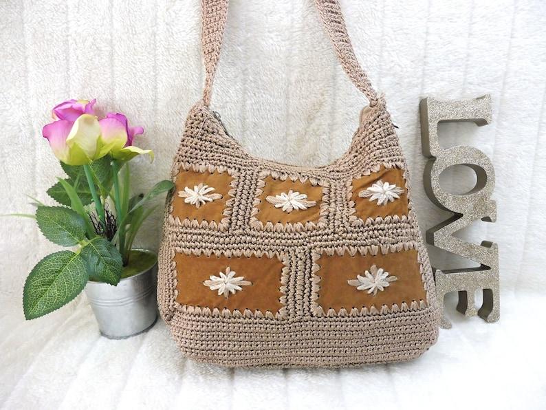 Handbag Purse Crochet Bag Woven Bag Shoulder Clutch Women Bag image 0