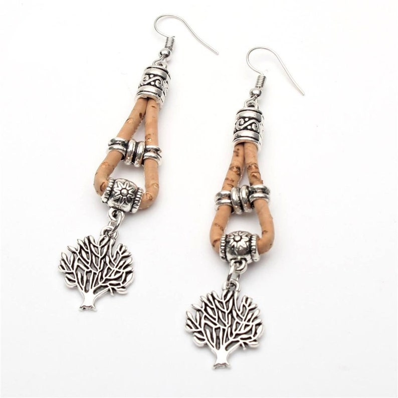 Jewelry Gifts Vegan Earrings Jewelry Cork Jewellery Wood image 0