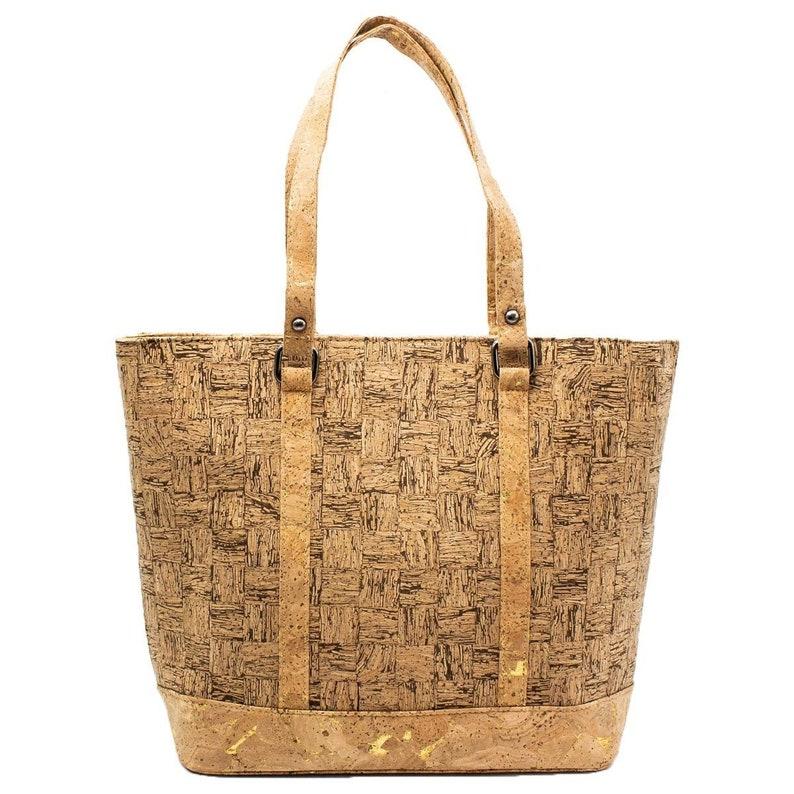 Tote Bag Cork Cork Handbag Purse Handmade Vegan Bag Shoulder image 0