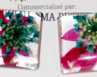 Earrings natural flowers