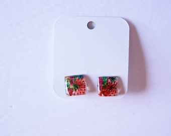 Earrings made of 100% flowers - Earrings composed of natural natural flowers