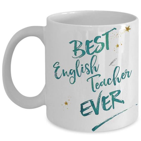15oz GIFT THE BEST ENGLISH TEACHER IN THE WORLD FUNNY MUG /& COASTER SC8 11oz