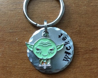 pet dog ID tag,  Handstamped dog ID Tag, Free Shipping Dog Tags,