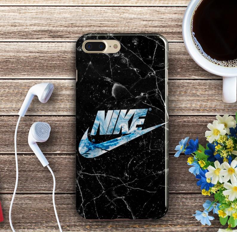 ec1e72f5de83d Black Marble Cases iPhone XS Max 8 Plus 7 Blue Nike Plastic Cases Samsung  Galaxy S5 S6 S7 Edge White Cracked Cases iPhone 8 6s Plus XR 10 SE