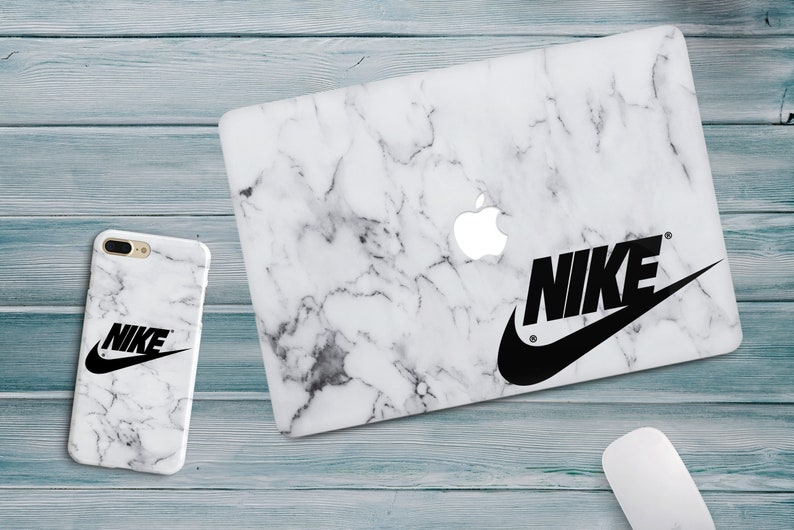 wholesale dealer 8e1fa 3ef7d Nike Marble iPhone XS Max 6s 8 Plus SE Cases Pattern MacBook Pro 15 inch  Retina Touch Bar 2017 Cracked Covers MacBook 12 Air 13 White Marble