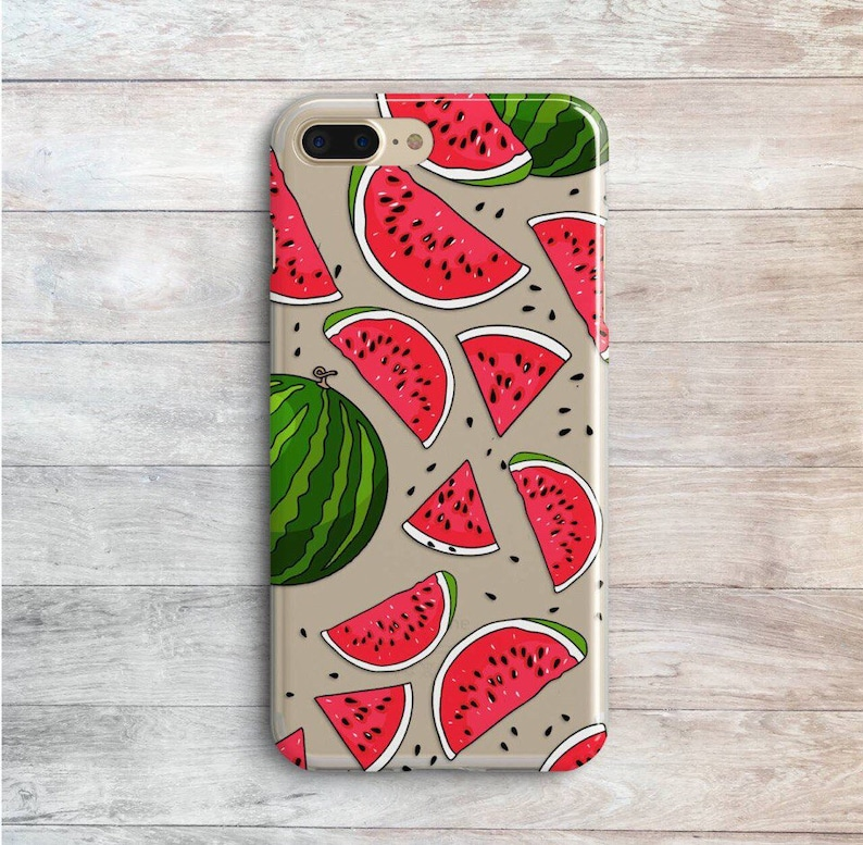 new product f1ffb 7ddcb Watermelons Case iPhone 7 Plus XR 10 SE Clear Covers iPhone 6s XS Max 8  Plus Case Watermelon Slice Silicone Cases Samsung Galaxy S7 S6 S5 S8