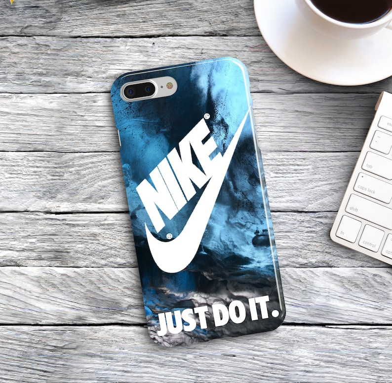 1be20c6e2e288 Nike Plastic Covers iPhone XS Max 8 Plus 6s Sport Just Do It Cases Samsung  Galaxy Note 4 S5 S6 S7 Edge Dark Blue Marble iPhone 7 SE 10 XR 8