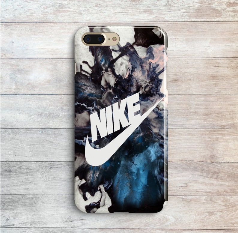 48892d3c6bbc5 White Nike iPhone XS Max 8 Plus SE Sport Cases Samsung Galaxy Note 4 S6 S7  Edge Blue Blot Pattern Marble Covers iPhone 7 6s Plus XR 10 Black