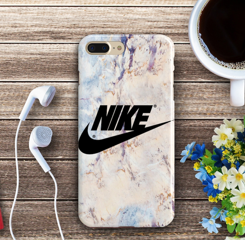 low priced 70d35 de73c Plastic iPhone 7 Plus Nike Marble Covers iPhone X 6s SE Case Samsung Note 4  S5 S6 S7 Edge White Marble Cases iPhone 7 8 Plus Black Nike Case