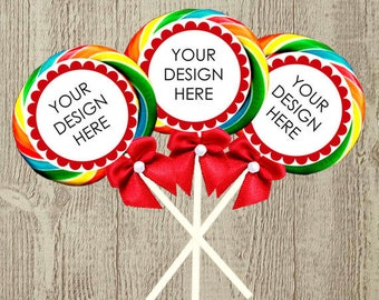 Custom lollipop stickers more matching products available