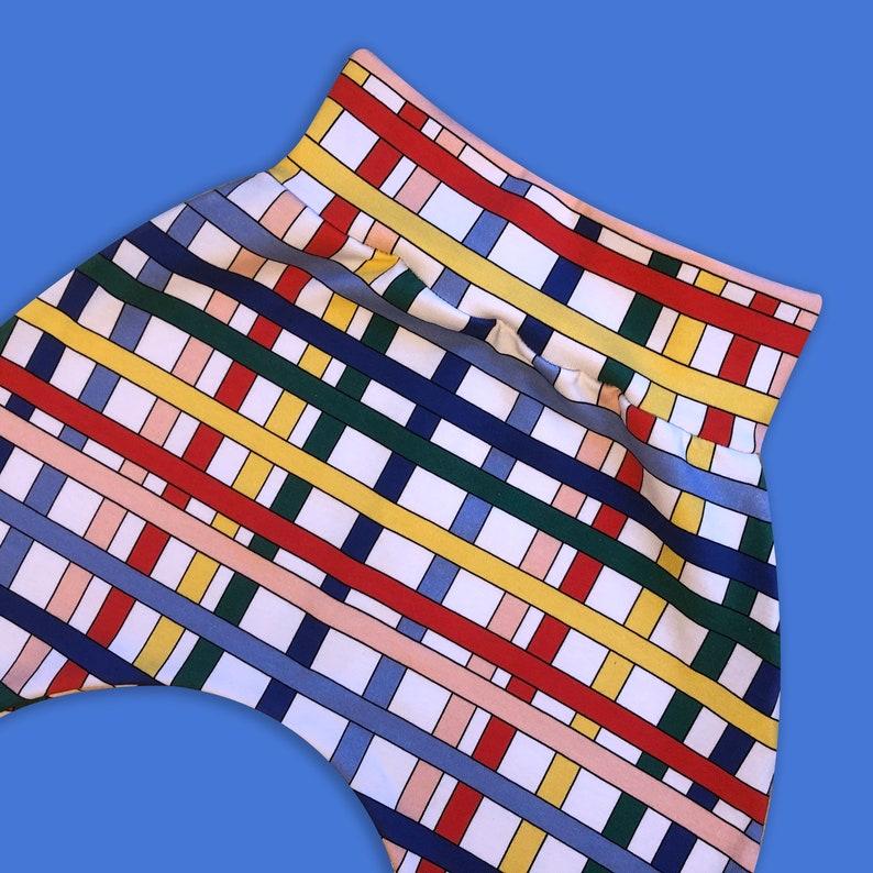 Baby  kids harem pants unisex rainbow stripy baby leggings