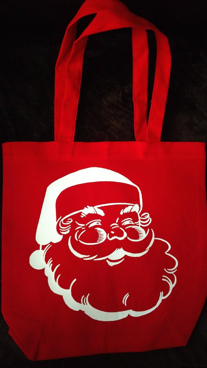 Santa Tote bag/Writing on back/Design on front image 0