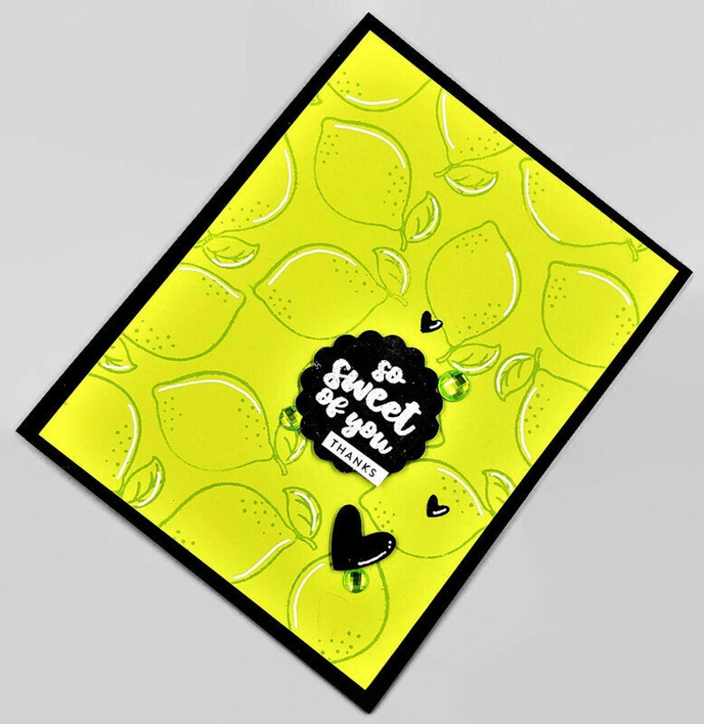 So Sweet Of You Thanks Lime Themed Greeting Card  2019210 image 0