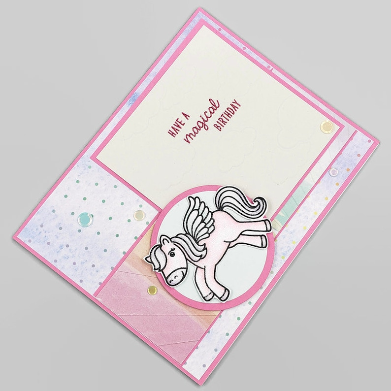 Have A Magical Birthday Pink & Blue Unicorn Greeting Card  image 0