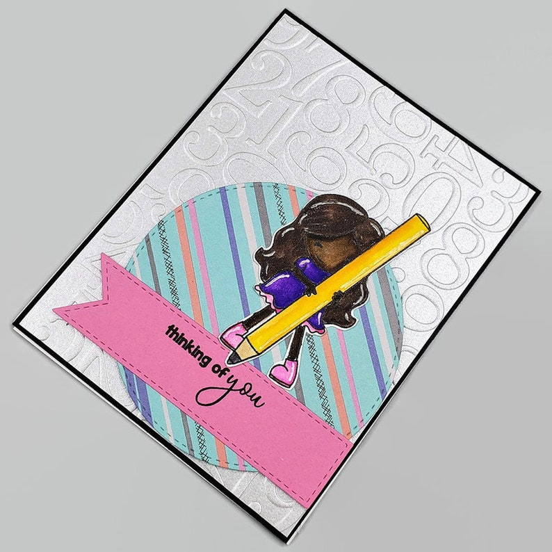 Thinking Of You Card Numbers Themed Greeting Card  2019228 image 0
