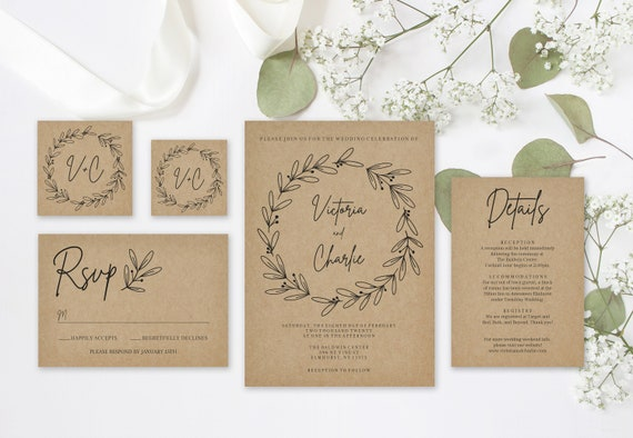 image relating to Printable Rustic Wedding Invitations identified as Printable Rustic Wedding ceremony Invitation Preset Template // Editable Marriage ceremony Invitation Template // Rustic Wreath // Obtain // Marriage ceremony Do-it-yourself