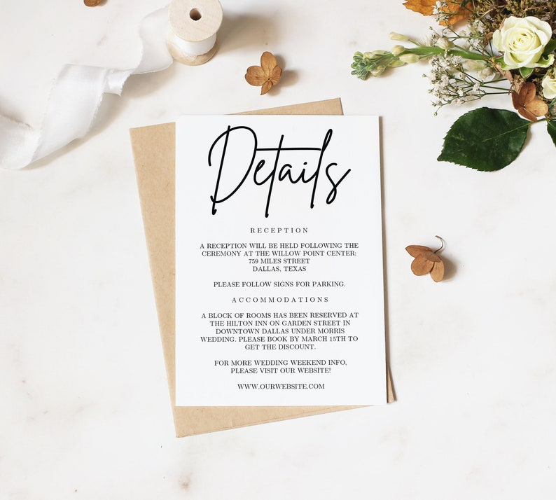 Printable Wedding Invitation Set Template  Handwriting Rustic Invitation  Printable Template  Instant Download  Wedding DIY
