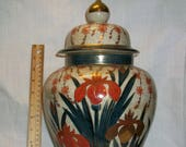 Listing 197 is an antique satsuma finely crackled with shimazu mark Vase With Lid