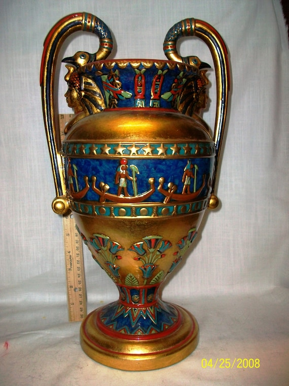 Listing 254 Is An Egyptian Style Veronese Vase From 2002 Etsy