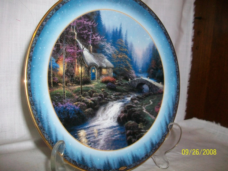 Stupendous Thomas Kinkades Twilight Cottage Collectors Plate By Lenox Home Interior And Landscaping Ologienasavecom
